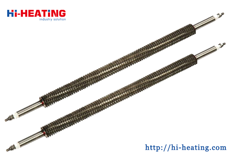 W U Shape Straight Finned Tubular Air Heater Industrial Heating Element